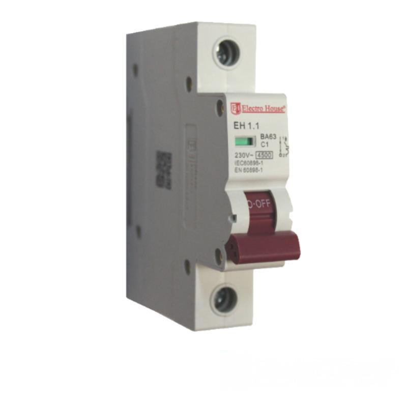 ElectroHouse Автоматичний вимикач 1P 1A 4,5 kA 220-240V IP20
