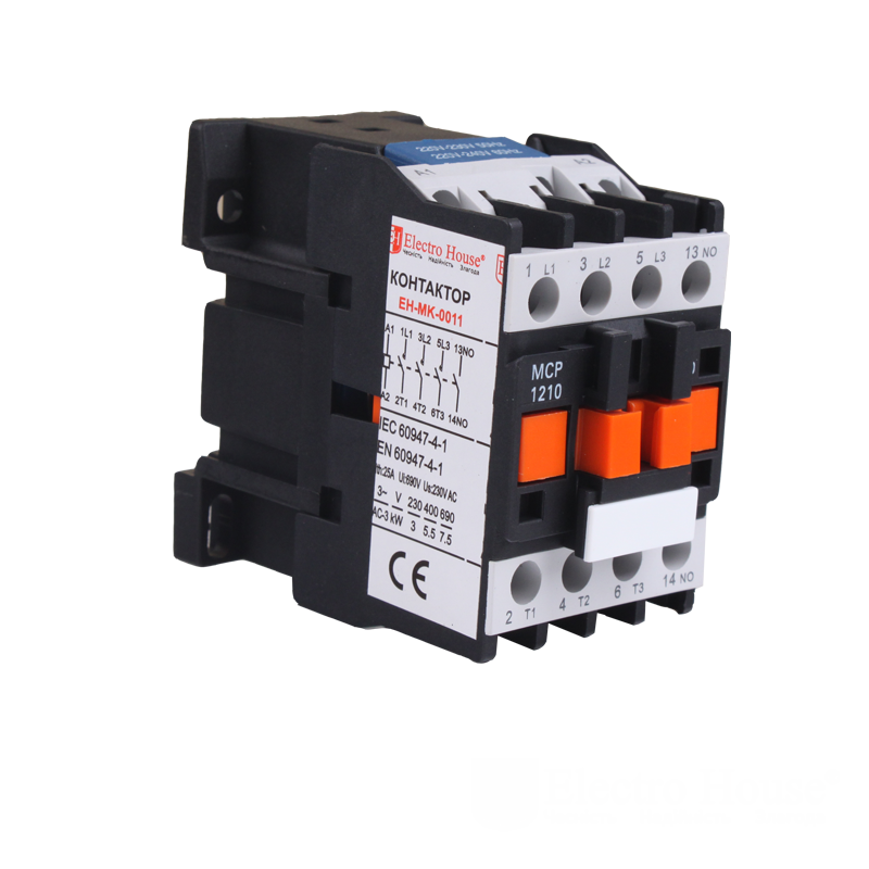 ElectroHouse Контактор магнітний 3P 12A 220-230V IP20 4НО