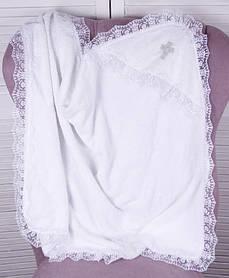 """Крестильное полотенце """"Крещение"""" белое"""