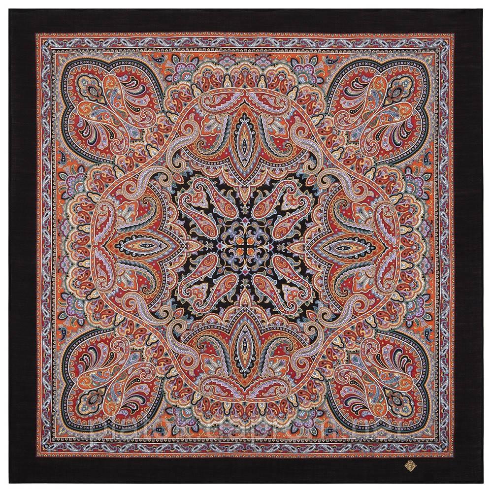 Жемчужные росы 1907-18, павлопосадский платок шерстяной  с оверлоком