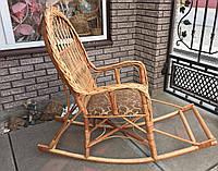 Качалка кресло детская из лозы | кресло-качалка с подставкой детская | кресло качалка для детей из лозы