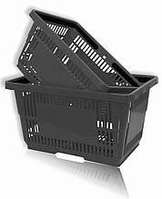 Корзинки для супермаркета 20-22 л. серый-графит и др.