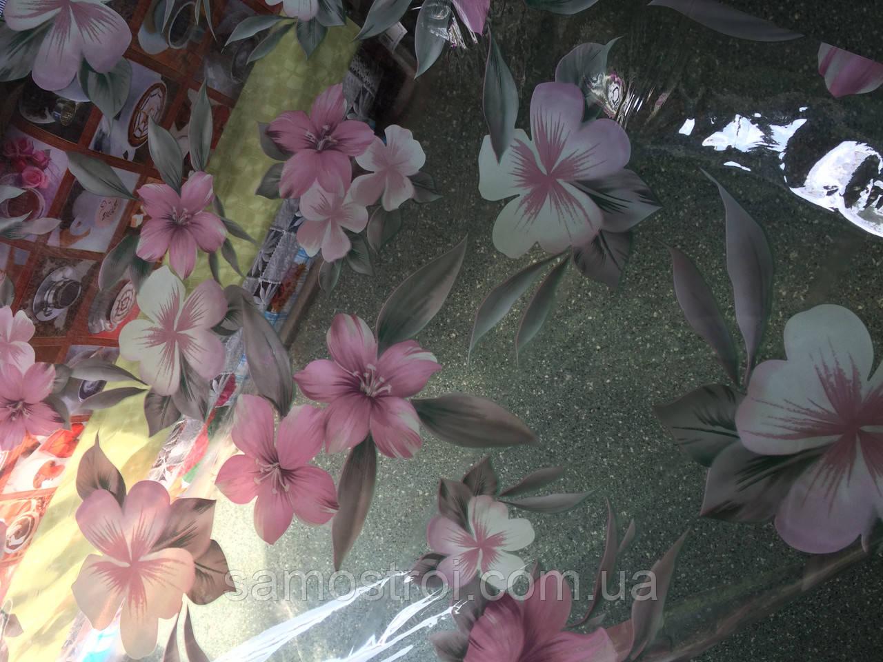 Клеенка силиконовая розовый цветок 878-12Т 1,37 м