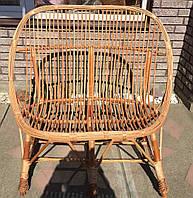 Диван плетеный для двоих  скамейка из лозы плетеная    диван плетеный яйцо, фото 1