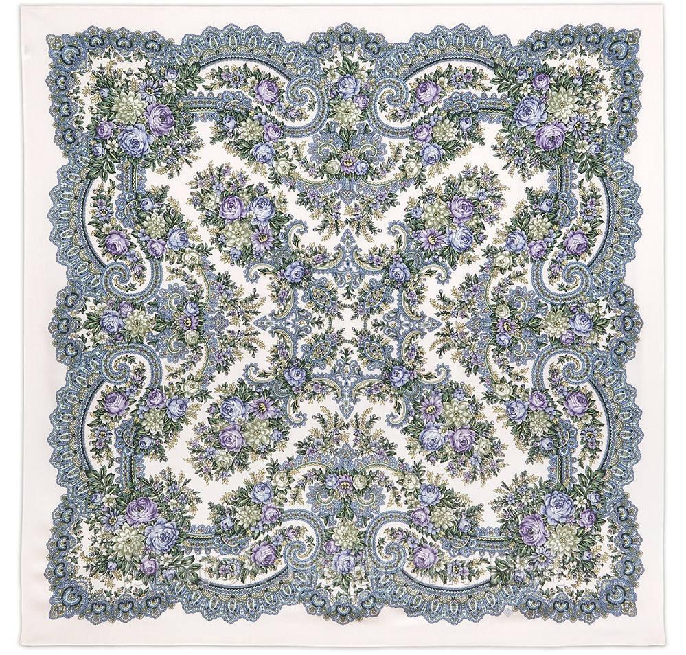 Кружевное настроение 1886-0, платок из вискозы с подрубкой