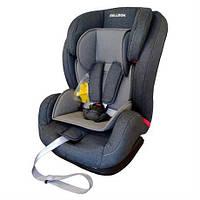 Автокресло детское надежное автомобильное Encore Isofix от 9 мес до 12 лет серое до 36 кг