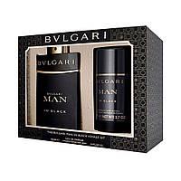 BVLGARI Man In Black ПОДАРУНКОВИЙ НАБІР парфумована вода 100ml + дезодорант стік 75ml ОРИГІНАЛ