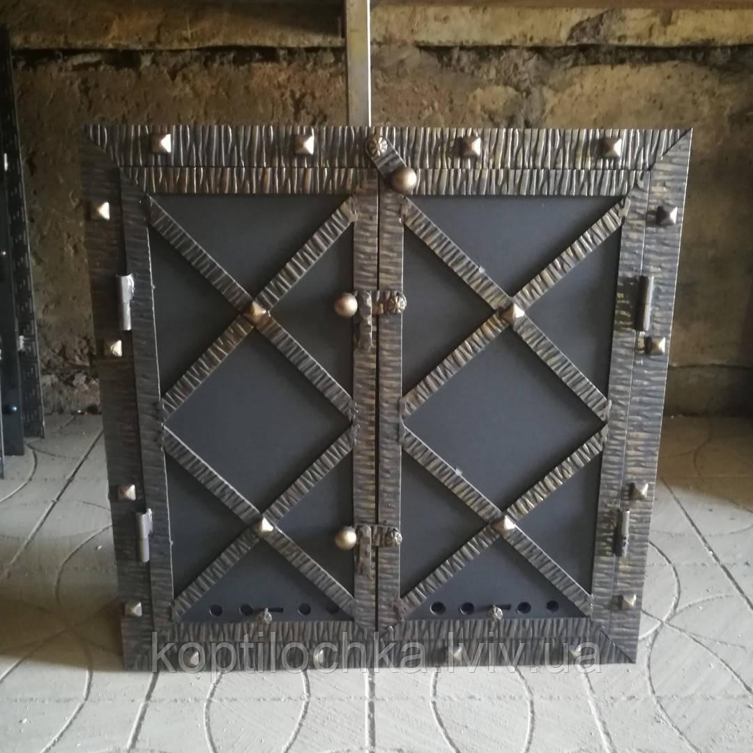 Дверка для коптильні «Старе місто» утеплена,герметична