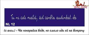 трафарет надпись для биотату NL12