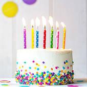 Свечи в торт разные