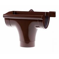 Зливоприймач Profil лівий Д=130мм, колір коричневий
