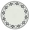 """Тарелка закусочная """"Графика"""", стеклокерамика (20 см.)"""