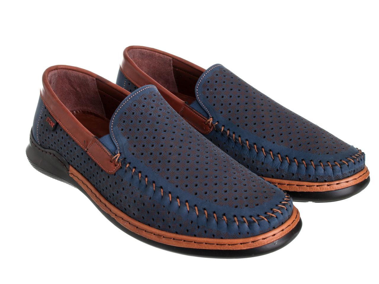 Мокасины Etor 16321-1056-734-1735 42 синие