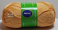 Нитки пряжа для вязания хлопок Azira Victoria Азира Виктория № 339 - ПЕРСИК