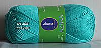 Нитки пряжа для вязания хлопок Azira Victoria Азира Виктория № 308 - ЛАГУНА