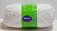 Нитки пряжа для вязания хлопок Azira Victoria Азира Виктория № 3851 - УЛЬТРАБЕЛЫЙ
