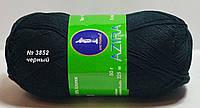 Нитки пряжа для вязания хлопок Azira Victoria Азира Виктория № 3852 - ЧЕРНЫЙ