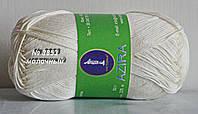 Нитки пряжа для вязания хлопок Azira Victoria Азира Виктория № 3853 - МОЛОЧНЫЙ