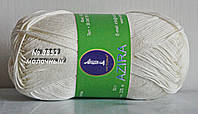 Пряжа для вязания хлопок Azira Victoria № 3853 - МОЛОЧНЫЙ