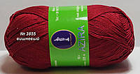 Нитки пряжа для вязания хлопок Azira Victoria Азира Виктория № 3855 - ВИШНЯ