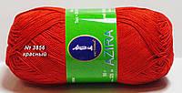 Нитки пряжа для вязания хлопок Azira Victoria Азира Виктория № 3856 - КРАСНЫЙ