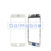 Стекло (для ремонта дисплея) iPhone 6 Plus белое с рамкой с OCA-пленкой
