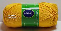 Нитки пряжа для вязания хлопок Azira Victoria Азира Виктория № 3863 - ЖЕЛТЫЙ