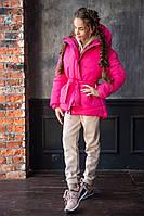 Детская зимняя куртка теплая курточка плотная плащевка +300 силикон+флис размер: 134, 140, 146, 152