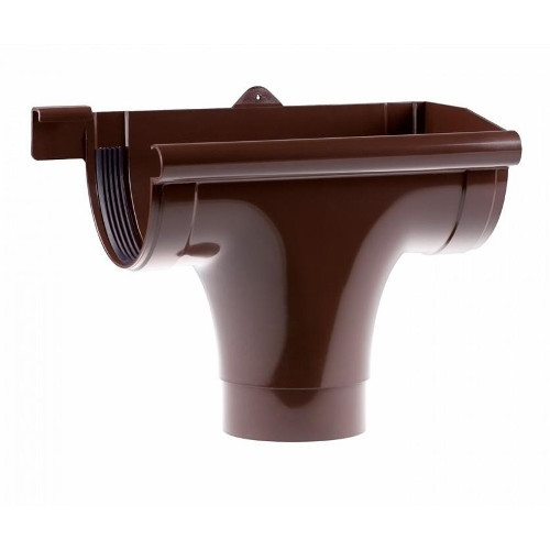 Ливнеприёмник Profil правый Д=130мм, цветкоричневый