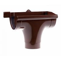 Зливоприймач Profil правий Д=130мм, колір коричневий