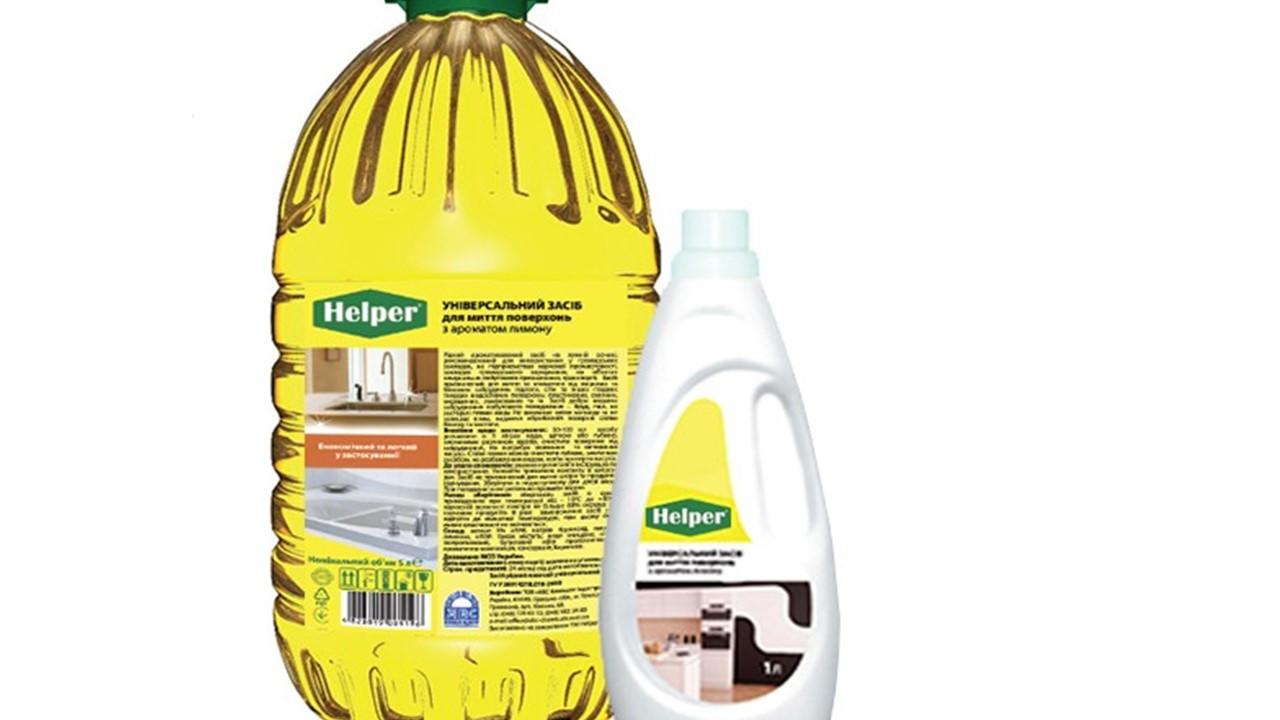 Helper Універсальний миючий засіб для миття поверхонь з ароматом  лимону 1,0л