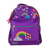 Детский дошкольный рюкзак для девочки 1 Вересня K-16 Rainbow 19х23х10 см 5л Фиолетовый (5056137119134)(554762)