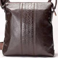 Мужская сумка на плече Fendi кожаная коричневого цвета