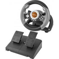 Игровой руль Defender Challenge Mini LE для ПК, компьютера, PC, PS3 с педалями
