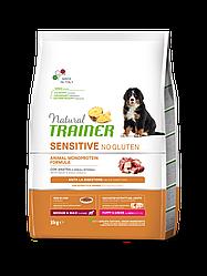 Корм Natural Trainer Dog Sensitive Puppy&Junior Medium&Maxi Duck з качкою 3 кг