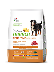 Корм Natural Trainer Dog Sensitive Medium&Maxi With Lamb для середніх великих порід з ягням 3кг