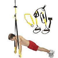 🔝 Тренировочные петли TRX для фитнеса (черно-оранжевые) тренажер TRX | подвесные ремни для тренировок | 🎁%🚚