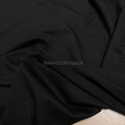 Футер двунитка черная (180 см), фото 2