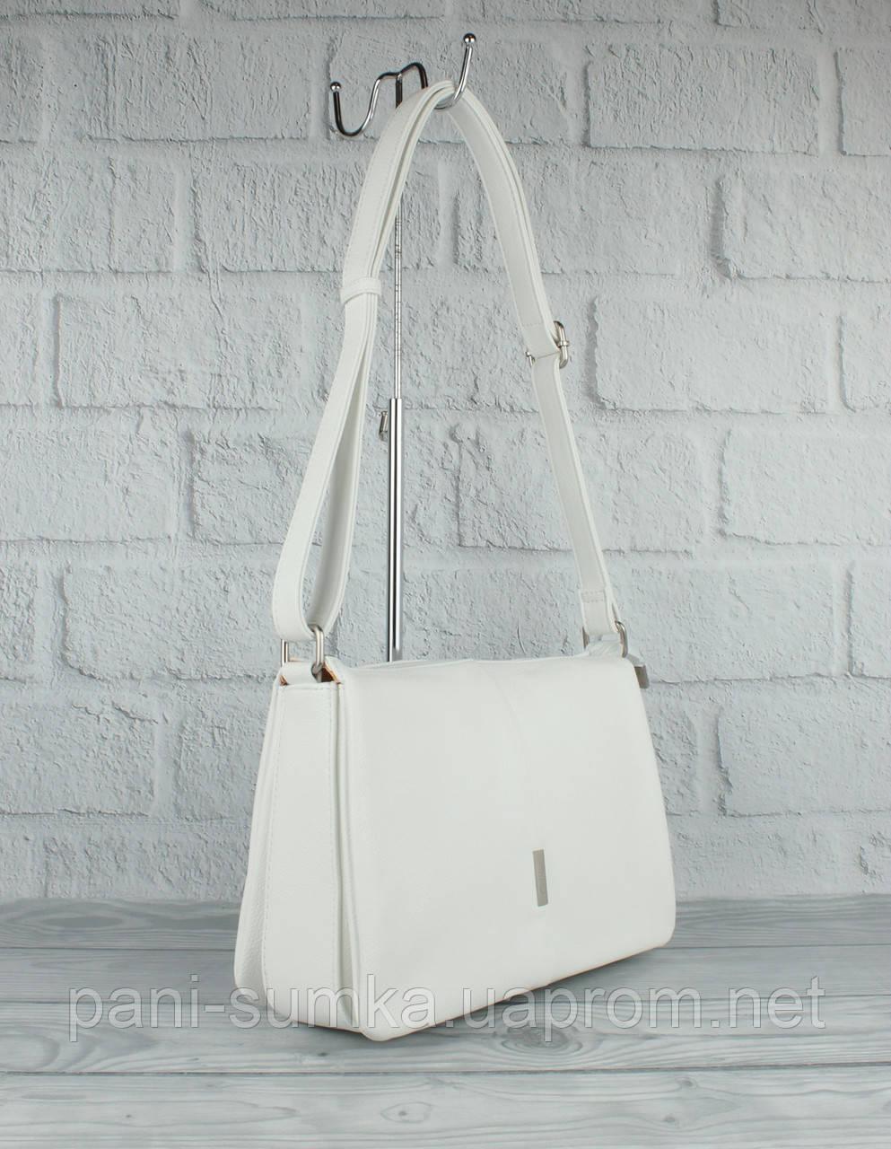 М'яка, містка сумка Gilda Tohetti 60488-26 біла