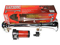 Сигнал 1-дудка возд. CA-13030 Elephant 12V металл хром 350mm с компрессором