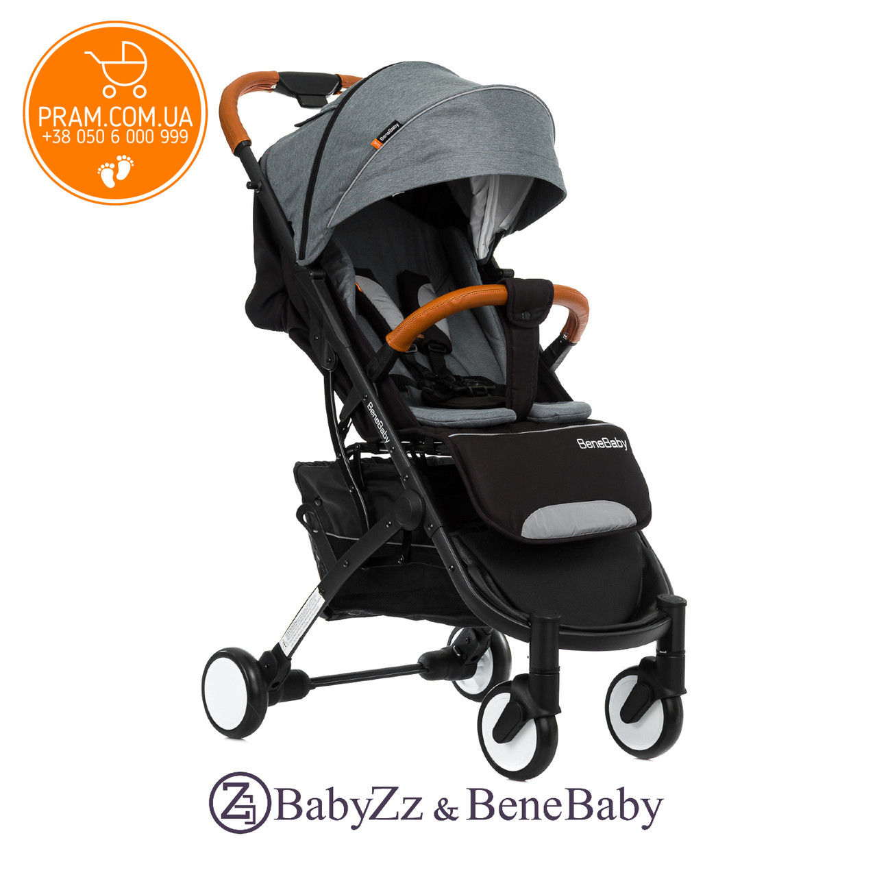 BABYZZ & BENE BABY D200 прогулочная коляска Серый