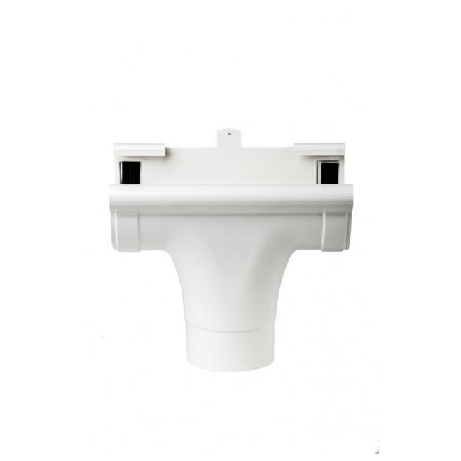 Ливнеприёмник Profil проходной Д=130мм, цвет белый