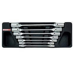 Набор ключей торцевых шарнирных 6-19мм 7ед. (в ложементе) TOPTUL GAAT0702