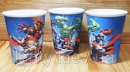 Стаканчики Супергерои/Мстители/Марвел бумажные (10шт/уп. 250мл.) с рисунком одноразовые детские -малотиражные-
