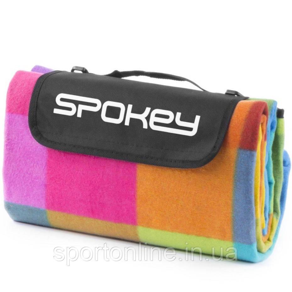 Коврик для пикника и пляжа водонепроницаемый Spokey Colour 130х150 см, разноцветный квадрат