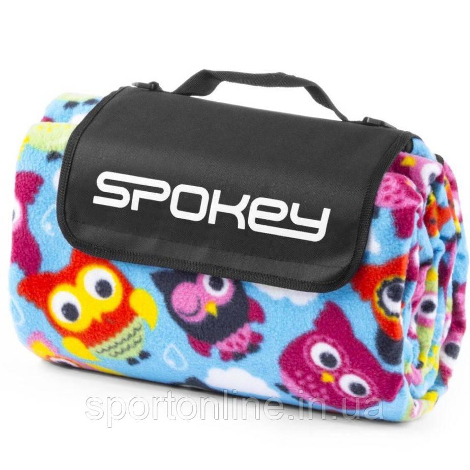 Коврик для пикника и пляжа водонепроницаемый Spokey Owl 180x210 см, с совушками