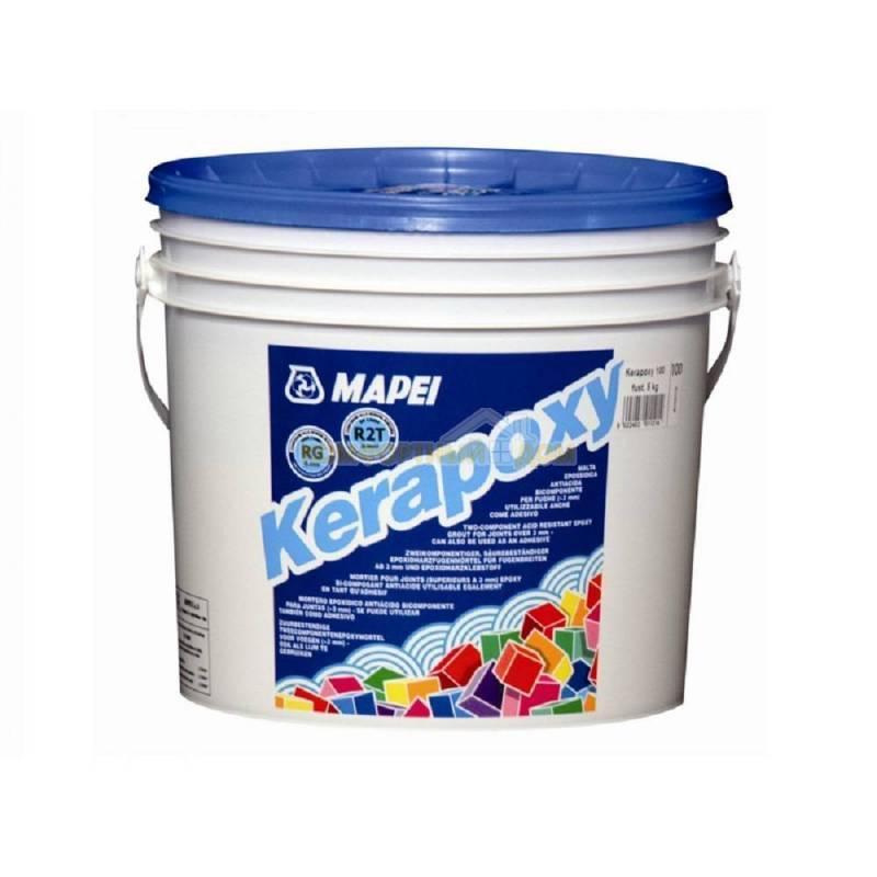 Епоксидна затирка для швів Kerapoxy / 100 білий / Mapei, 10 кг