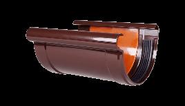 Соединитель желоба Profil Д=130мм, цветкоричневый