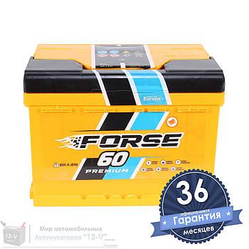 Аккумулятор автомобильный FORSE 6CT 60Ah, пусковой ток 600А (Низкий) [+|–]