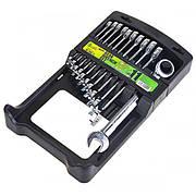 Набір ключів комбінованих тріскачкових  11 предметів , 8-19мм. Alloid